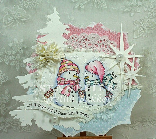 LOTV - Cold Hands and Warm Heart with Always and Forever Solids and Snow Princess papers and Christmas Wishes sentiments by DT Gretha