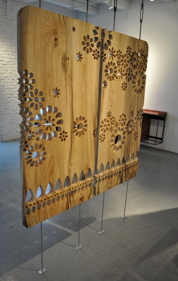 Laser cutting ornamental screen - would make for an amazing room divider - pick a pattern to match your home...