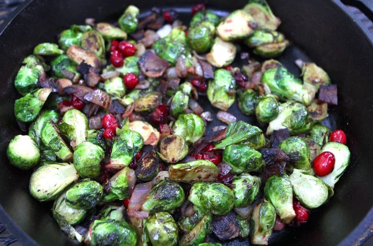 BRUSSLES SPROUTS WITH BACON & CRANBERRIES