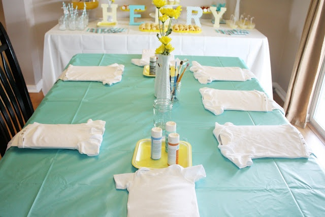 baby shower idea: Paint the onsies :)