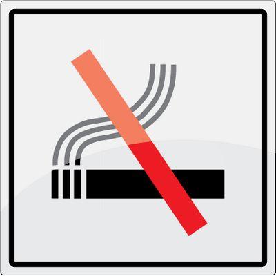 Rygning forbudt piktogram i rustfrit stål - Køb online -