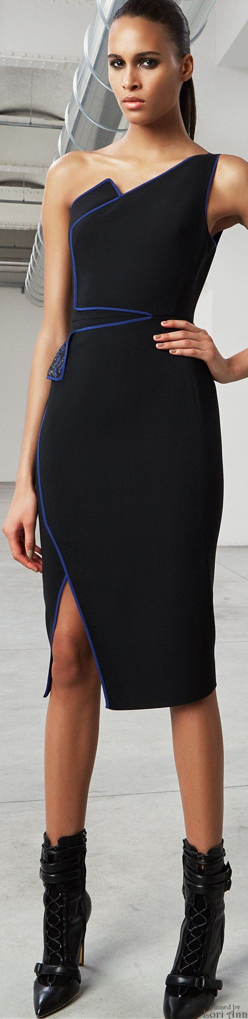 Antonio Berardi Pre-Fall 2015 black dress  women fashion outfit clothing style apparel @roressclothes closet ideas