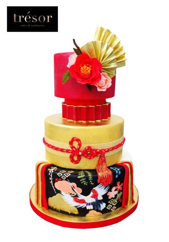 Japanese inspired wedding cake