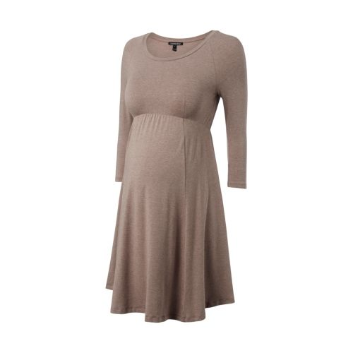 £30.00 Made in our signature soft stretch jersey, the Richmond Maternity Dress in beautiful rich navy or camel melange feels gorgeous and drapes elegantly over your changing bump. The open scoop neckline, empire seam, raglan sleeves and gently flared skirt create a feminine silhouette that will feel flattering throughout your pregnancy. Great for a transitional wardrobe, this maternity wardrobe staple will suit any look from simply Supergas at the weekend to a heel, blazer and belt for work.