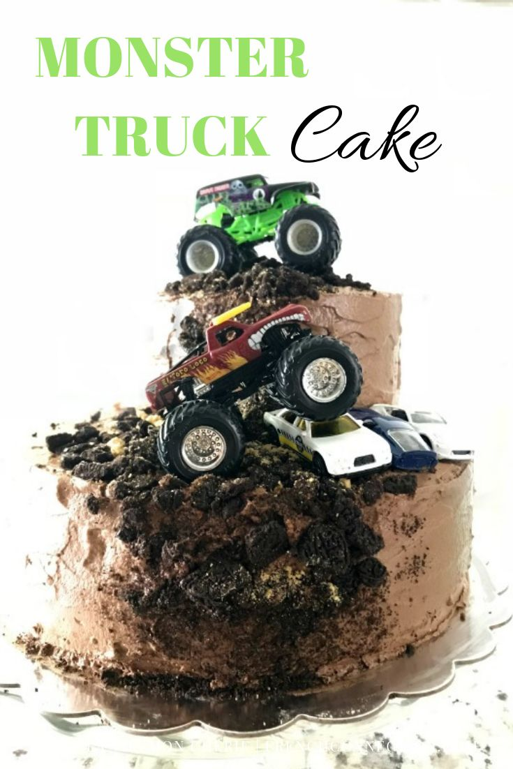 Monster Truck Birthday Party Celebrating 4 Years Truck