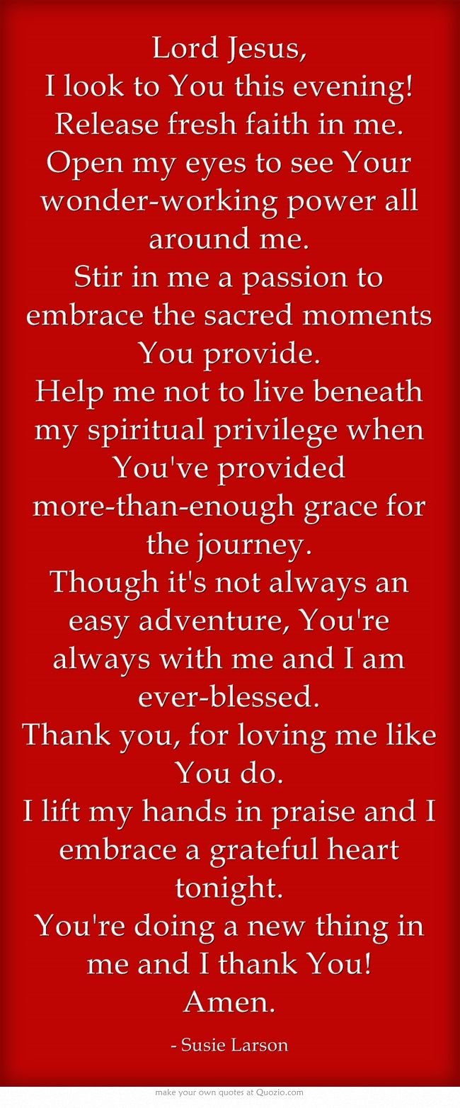 End of Day Prayer