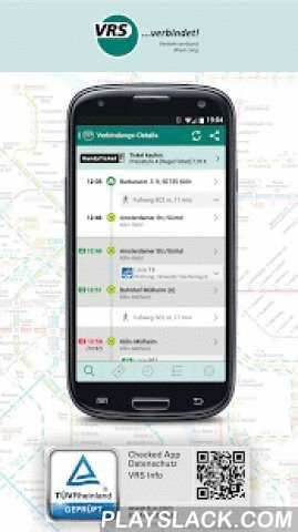 VRS Auskunft  Android App - playslack.com ,  You can access the timetable information system of the VRS transportation companies using this app, including current data (on time, delayed) - if available. We set a high value on an user interface that is easy to use in order to provide a companion for everyday life.Some highlights of this app:• Uses your current location• Routing from address to address• Show way on foot using Google Maps• Interactive linemap• Favorite connections, addresses…