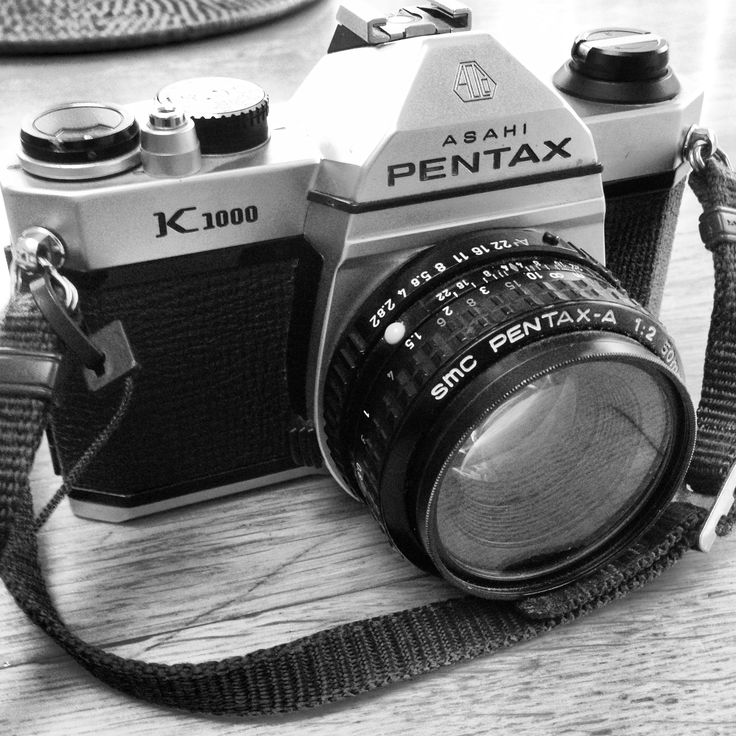 Pentax k1000 film camera - just added this beautiful beast to my collection. super excited to play with it soon.