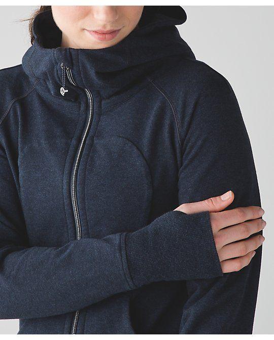 Lululemon: 'Scuba Hoodie III*Terry'   Size 8   heathered inkwell colour