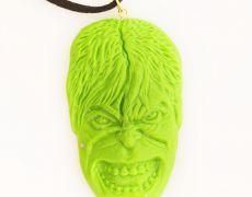 Medalion hand-made Fimo - Hulk