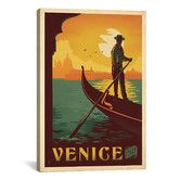 Found it at Wayfair - 'Venice, Italy' by Anderson Design Group Vintage Advertisement on Canvas
