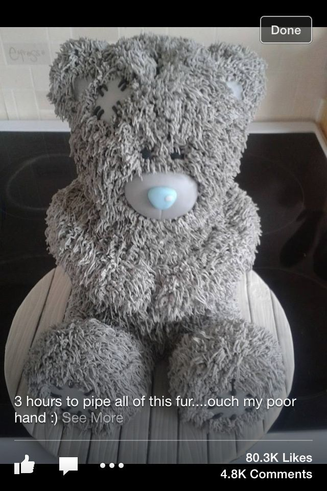 Another version. Tatty teddy cake