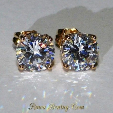 Anting Gold Filled 18k CZ 9mm