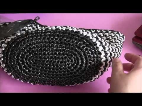 クラフトバンドで作るカゴバッグ 手作りとは思えないような ハンドメイドカゴバッグ 作り 異素材の持ち手を利用した カゴバッグのレシピ 紹介  まずは 底の編み方 - YouTube