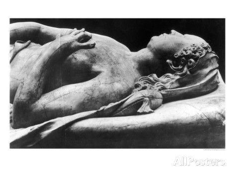 Tomb of Catherine de Medici and Henri II Detail of the Effigy of Catherine, 1562-73 reproduction procédé giclée par Germain Pilon sur AllPosters.fr