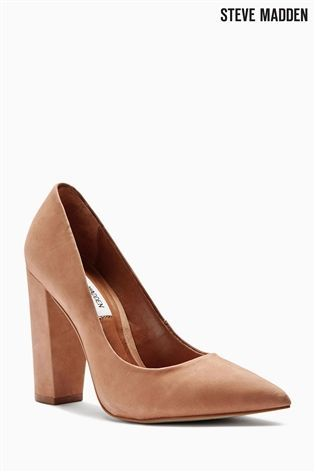 Buy Steve Madden Camel Block Heel Court Shoe from the Next UK online shop