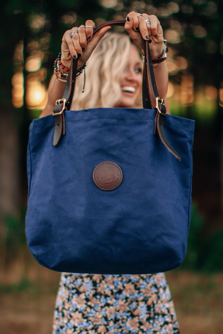 www.duluthpack.com | Invest in the best with the Duluth Pack Medium Market Tote in Navy Canvas.