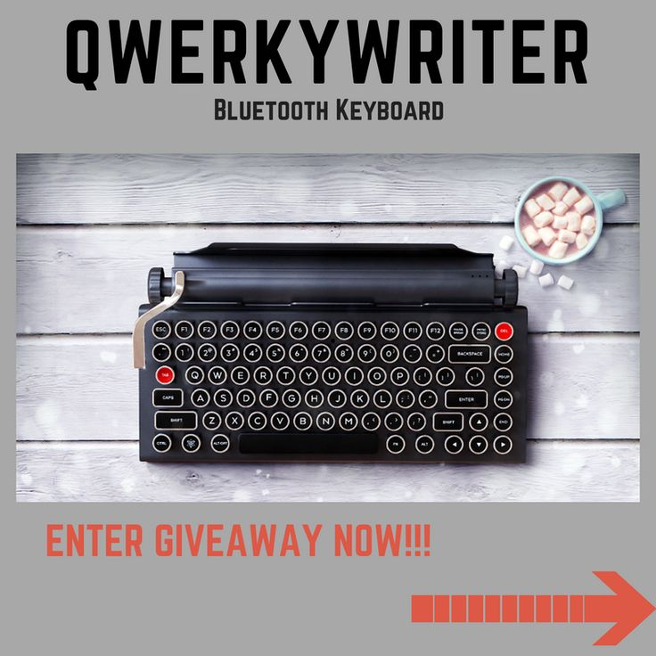 Qwerkywriter Wireless Keyboard Giveaway!!