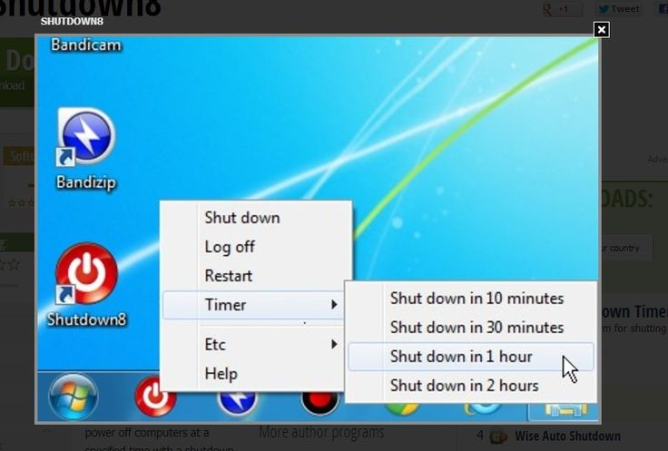 Shutdown8 is a simple program that very simply allows you to add the shutdown button onto the taskbar and select the Shut down, Log off, Res...