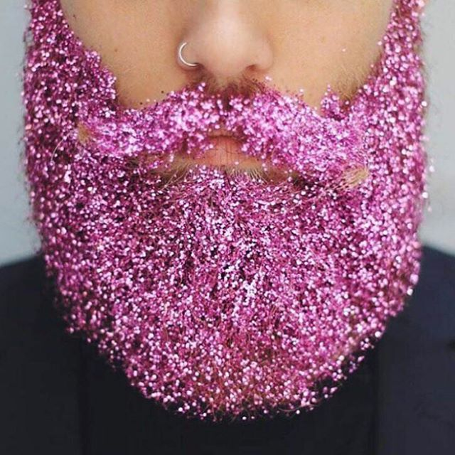 Forget about glitter hair it's all about glitter beards
