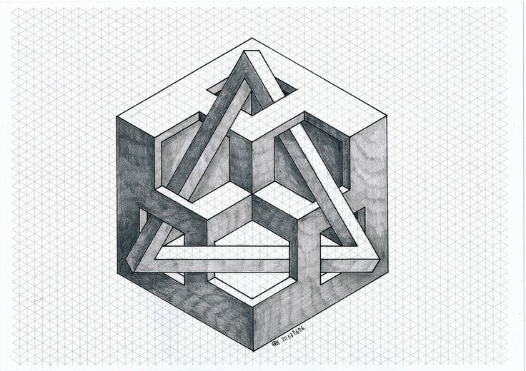 #impossible #isometric #geometry #symmetry #hexagon #penrose #triangle #mathart #regolo54 #oscareutersvärd #escher