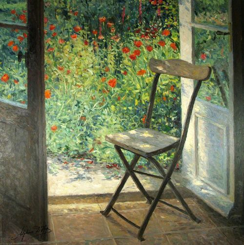Porte fenêtre sur le jardin... Alphonse D'Heye