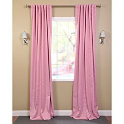 Pink Polka Dot Blackout Back-tab Pole Pocket Curtain Panel | Overstock.com Shopping - Great Deals on EFF Curtains