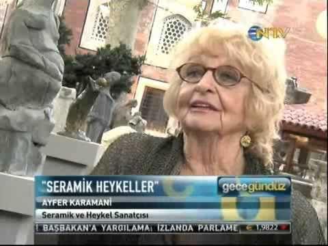 İstanbul Arkeoloji'de Ayfer Karamani Seramik Heykeller Sergisi - YouTube