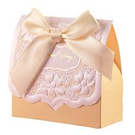 Beige Bowknot Candy Favor Boxes(Set of 12) – USD $ 6.99