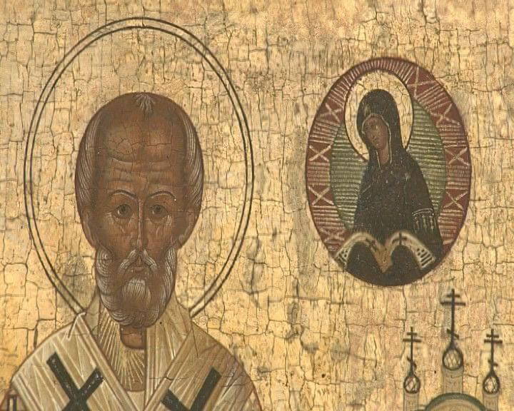 Iconen- Video -De afbeeldingen van religieuze figuren zoals Jezus of Maria heten iconen. Ze worden nog steeds geschilderd. Maar er zijn strenge eisen.Vroeg christelijk
