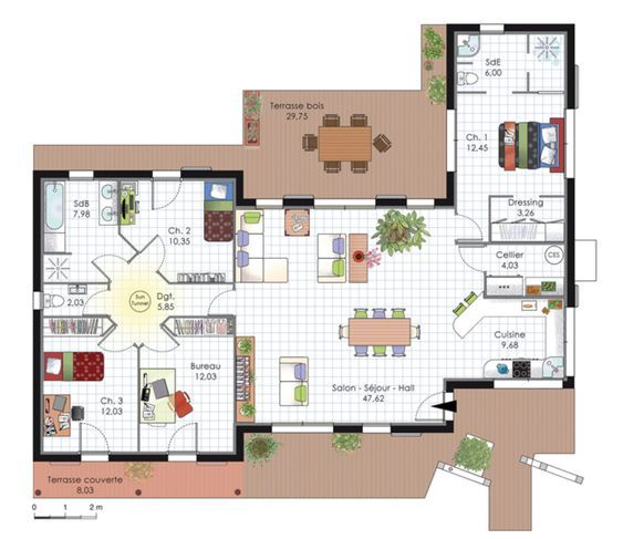 15 best plan maison images on Pinterest Floor plans, Future house - faire ses plan de maison gratuit