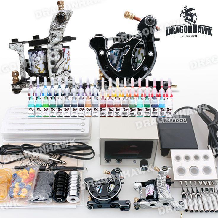 Starter Tattoo kit 2 Tattoo Machine Power Supply Needles 40 Inks D238-8 stater tattoo kit for tattoo beginner . [DIY-402(2.5-DE-D238-8)] - US$75.29 : Dragonhawk tattoo supplies, tattoo kits,tattoo machines for sale global form tattoodiy.com