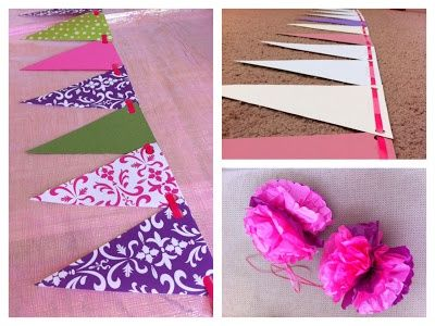 diy birthday banner | DIY / DIY bunting banner for birthday party! Made from scrapbook paper ...