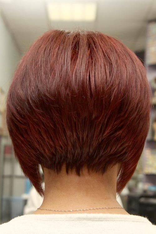 Short Angled Inverted Bob Hairstyles Back View Hair Flair Pinterest Styles And