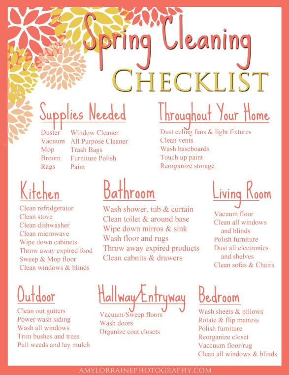 spring cleaning checklist amy lorraine photography