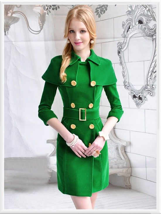 Morpheus Boutique  - Green Double Breasted Velour 3/4 Sleeve Velour Belted Lady Overcoat, $179.99 (http://www.morpheusboutique.com/green-double-breasted-velour-3-4-sleeve-velour-belted-lady-overcoat/)