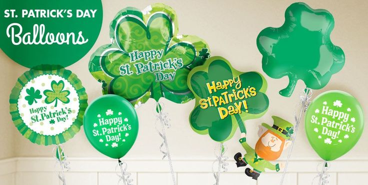 St. Patrick's Day Balloons from Party City