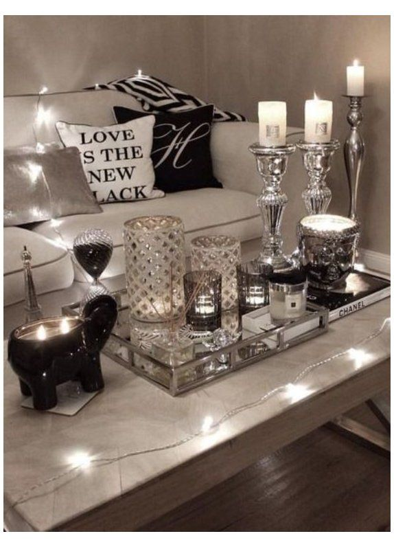 Glam Coffee Table Decor Ideas Silver Living Room Accessories In 2020 Silver Living Room Decor Home Living Room Glam Living Room Decor #silver #living #room #ideas
