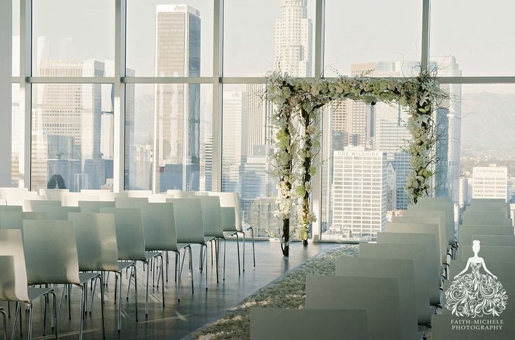 Downtown Los Angeles At Amp T Center Penthouse Wedding Http