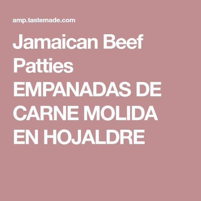Jamaican Beef Patties EMPANADAS DE CARNE MOLIDA EN HOJALDRE