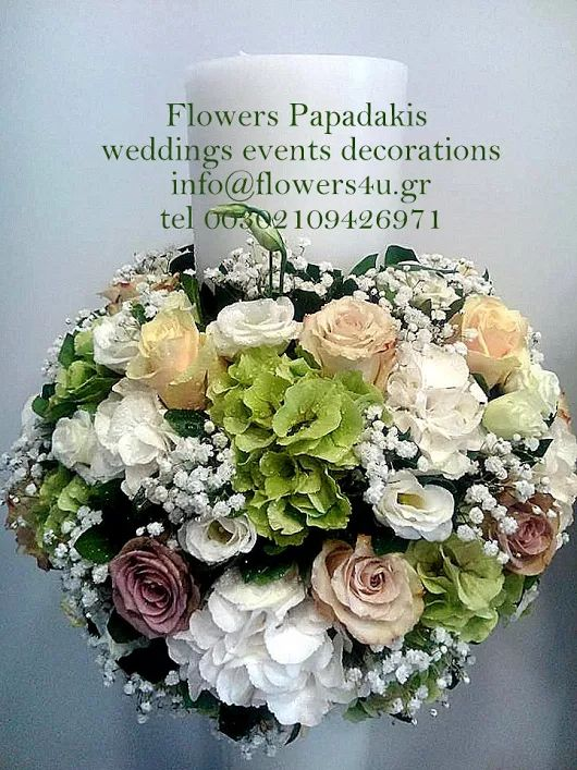 flowers papadakis  weddings-events-decorations send flowers to Greece-Athens  info@flowers4u,gr tel 00302109426971