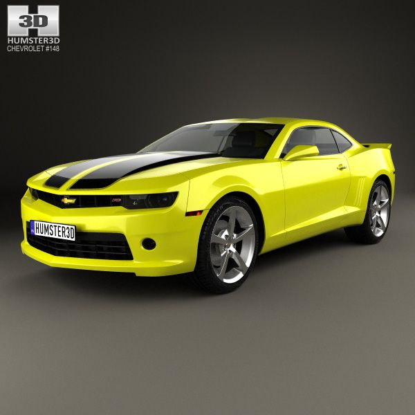 Chevrolet Camaro RS coupe 2014 3d model from humster3d.com. Price: $75