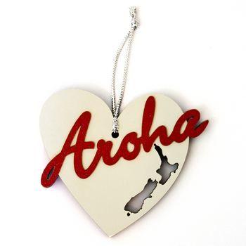New Zealand Aroha I love Christmas Decoration Red - http://www.silverfernz.com/4045-sweet-as-i-love-christmas-decoration-red.htm