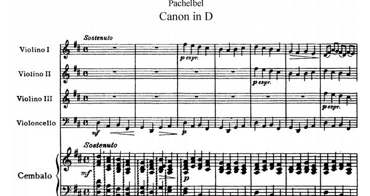 Violin I, Canon in D