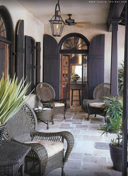Love the porch, shutters, light, floors, everything!