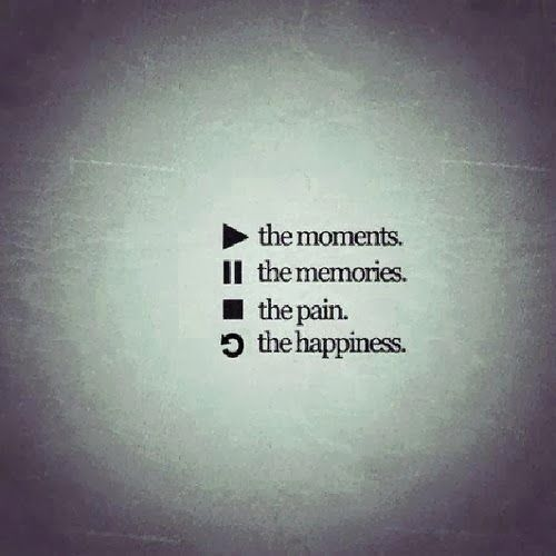 Play the moments Pause the memories Stop the pain Repeat the happiness | Anonymous ART of Revolution
