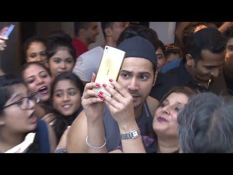 Varun Dhawan & John Abraham MOBBED by fans at Gold's gym.