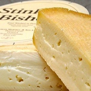 Stinking Bishop - a washed rind cheese by Charles Martell. Approx 100 produced per week.