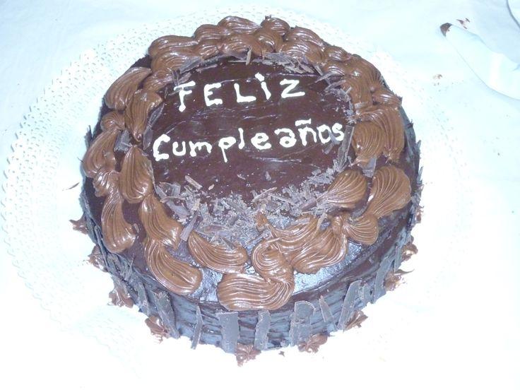 Torta de Chocolate con cobertura de Ganache