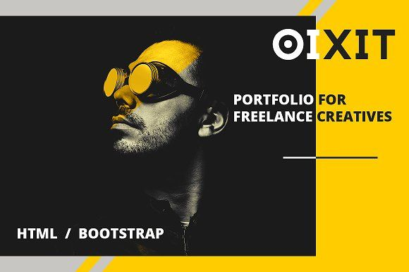 OIXIT - HTML portfolio for creatives by 89colors on @creativemarket